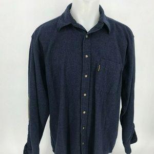 Pendleton Shirt Elbow Patch Virgin Wool XL 11-11